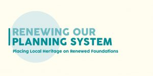 Renewing Our Heritage Planning