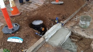stormwater diversion pit